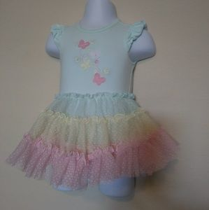 Nwot Little Me dress in a size 3 mos.
